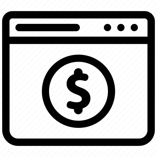 browser, dollar, money icon