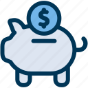bank, piggy, savings icon