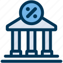 bank, interest, loan icon