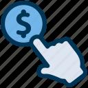 coin, dollar, hand