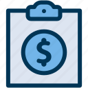 business, financial, report icon
