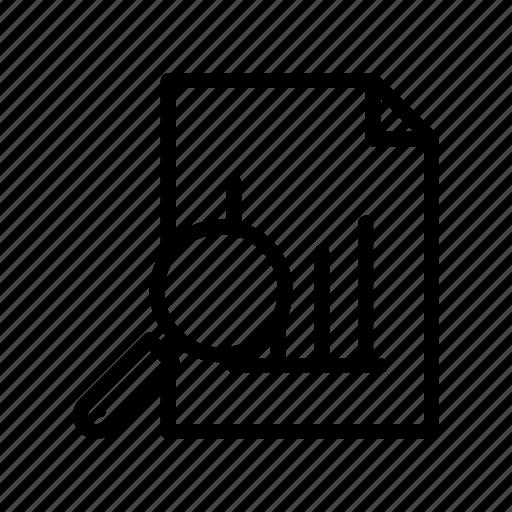 analytics, case, report, sheet, study icon