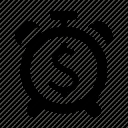 clock, deadline, money, time icon