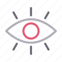 eye, look, seen, view, visibility icon