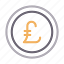 coin, currency, money, pound, saving icon
