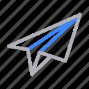 direction, message, navigation, paperplane, send