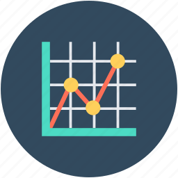 business chart, growth chart, infographics, line graph, progress chart icon