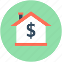 for sale, home value, house, property price, property value icon