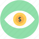 eye, eye focus, human eye, retina, view icon