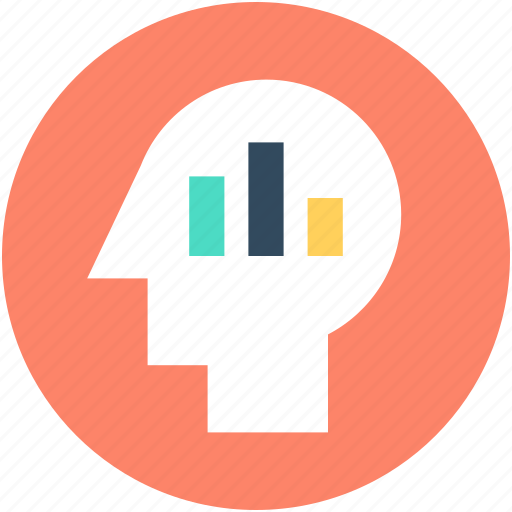 analytic, brain, business mind, graph, human head icon