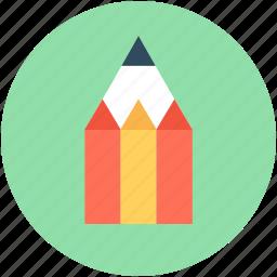 crayon, pencil, pencil tip, write, writing tool icon