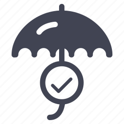business, confirm, dollar, finance, financial, money, umbrella icon