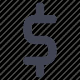 cash, dollar, finance, financial, money, sign icon
