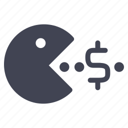 currency, dollar, eating, finance, financial, money icon