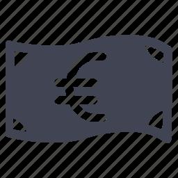 bill, cash, currency, euro, finance, money icon