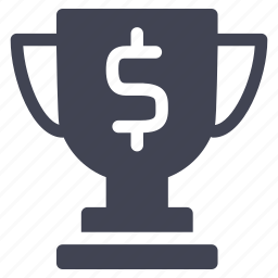 cash, currency, finance, financial, trophy icon