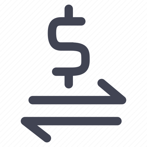 cash, conversion, currency, dollar, finance, money icon