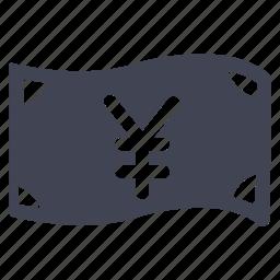 bill, cash, currency, finance, financial, money, yen icon