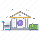 bank, bank building, bank structure, depository home, central bank