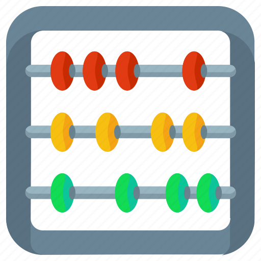 abacus, calculations, calculator icon