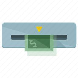 cash, extract, finance, financial, machine, money icon