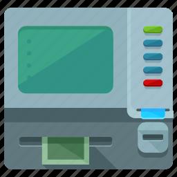 cash, finance, financial, machine, money icon