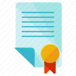 business, contract, document, finance, financial, paper, stamp icon
