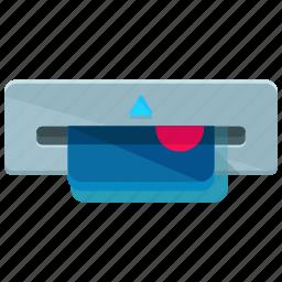 credit card, extract, machine, money icon