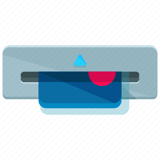 credit card, extract, machine, money icon