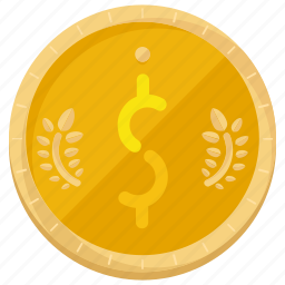 coin, currency, dollar, finance, payment icon