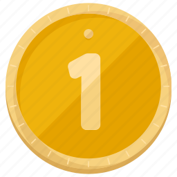coin, finance, financial, first, game, gold, place icon