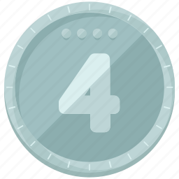 coin, finance, financial, fourth, game, place icon