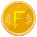 coin, currency, finance, financial, franc, france, money icon