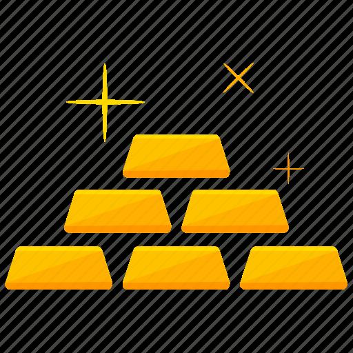 brick, gold, money, value icon