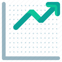 arrow, chart, finance, financial, increase, presentation, up icon