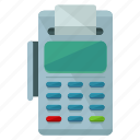 card, credit, finance, machine, payment icon