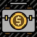 bag, business man, suitcase, finance, briefcase