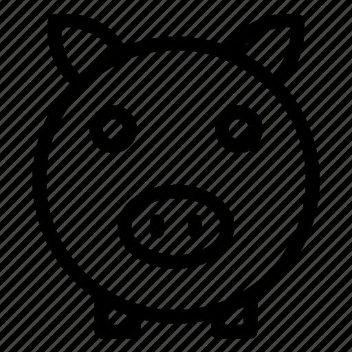 bank, currency, euro, finance, money, piggy, savings icon icon