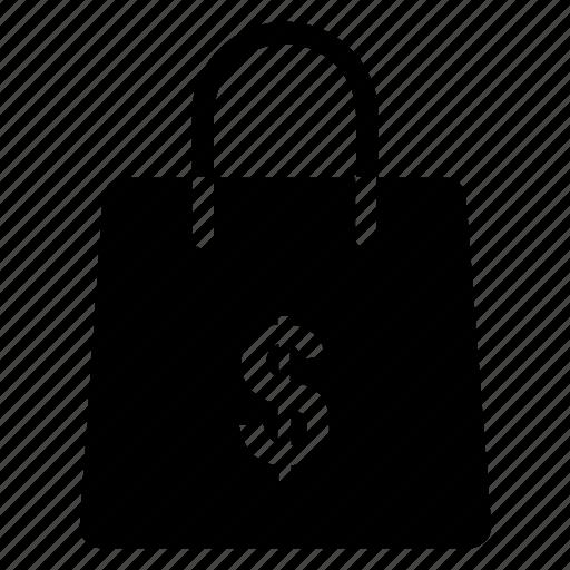 bag, basket, buy, dollar, ecommerce, price, shopping icon icon