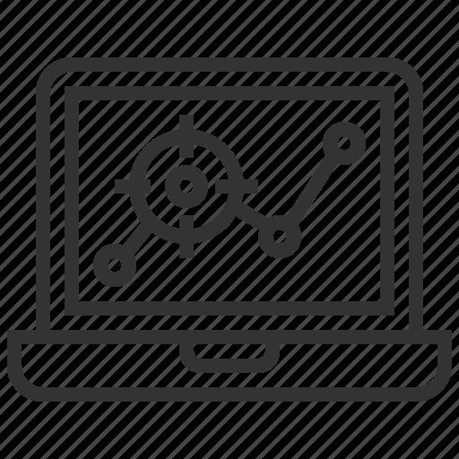 analytics, banking, finance, graph, notebook, report, statistics icon