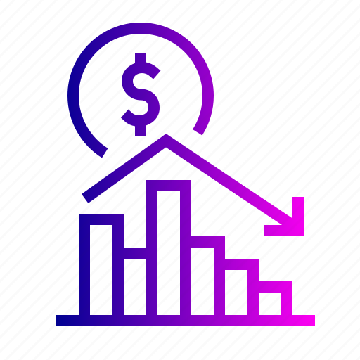 analysis, chart, dollar, finance, graph, money, statistic icon