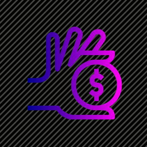 care, dollar, finance, management, money icon