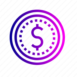coin, currency, dollar, finance, money, revenue, us icon