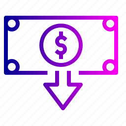 cash, dollar, feed, finance, money, note, outcome icon