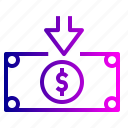 cash, dollar, finance, income, money, salary icon