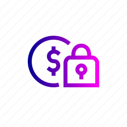 coin, dollar, finance, money, privacy, secure icon