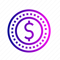 coin, currency, dollar, finance, money, us icon