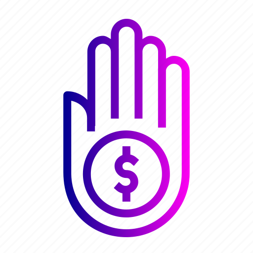 care, dollar, hand, money, save icon