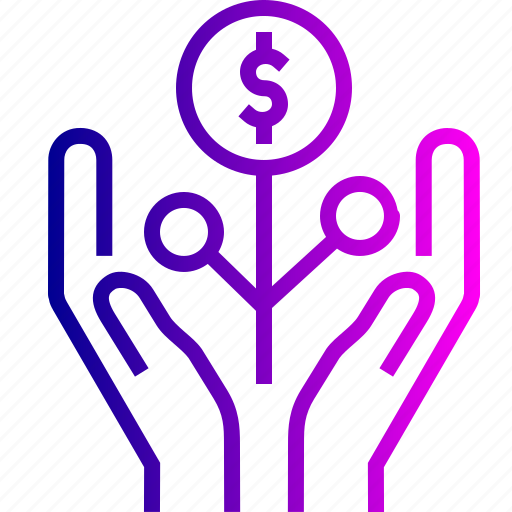 care, dollar, hand, healthcare, money, save, tree icon
