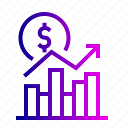 dollar, graph, money, prise, report, statistic, up icon